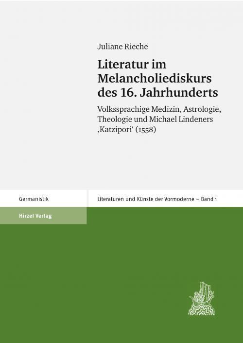 Literatur im Melancholiediskurs des 16. Jahrhunderts cover