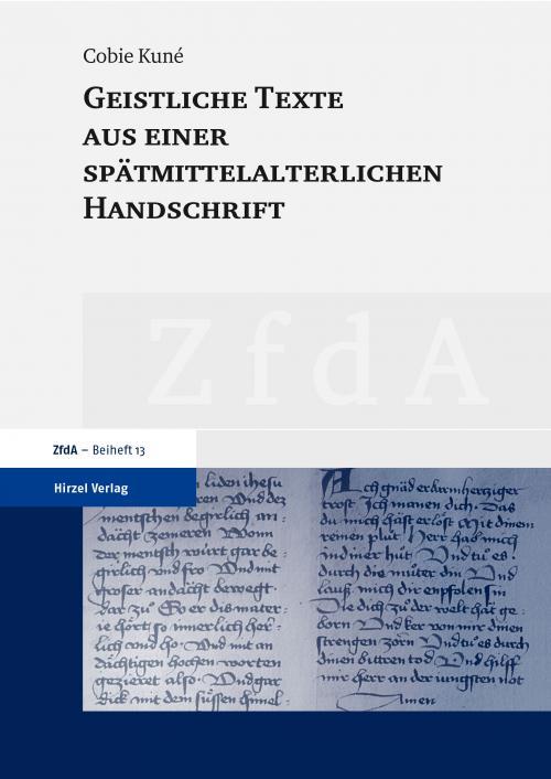 Geistliche Texte aus einer spätmittelalterlichen Handschrift cover