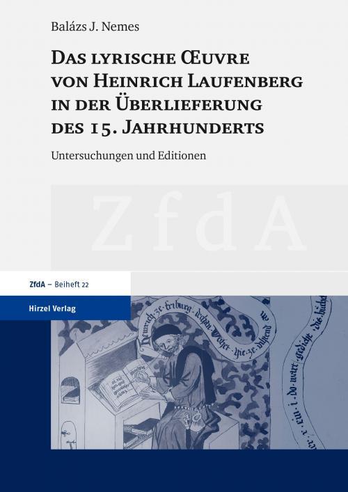 Das lyrische Œuvre von Heinrich Laufenberg in der Überlieferung des 15. Jahrhunderts cover