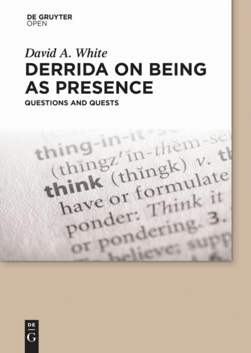 Derrida on Being as Presence cover