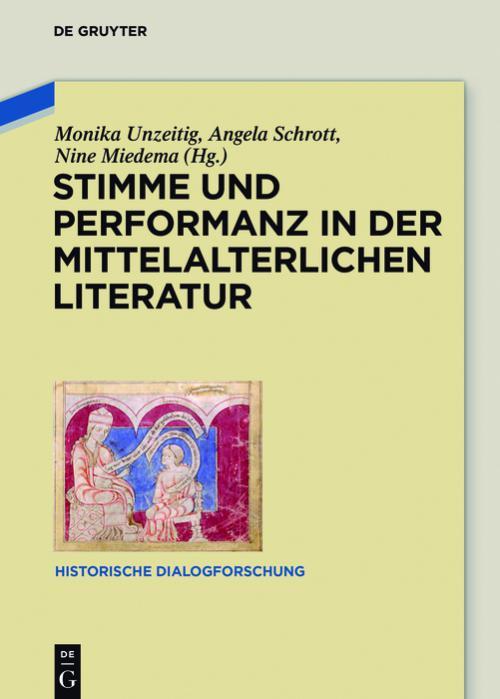 Stimme und Performanz in der mittelalterlichen Literatur cover