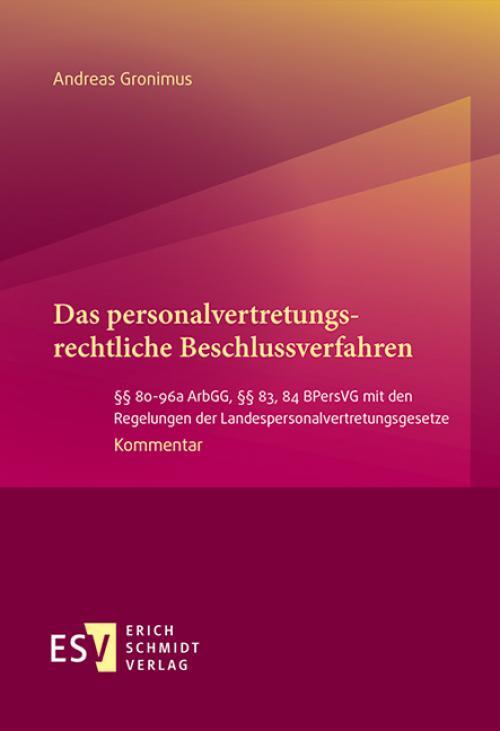 Das personalvertretungsrechtliche Beschlussverfahren cover