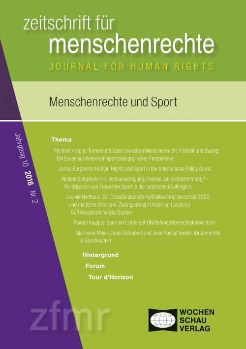 Menschenrechte und Sport cover