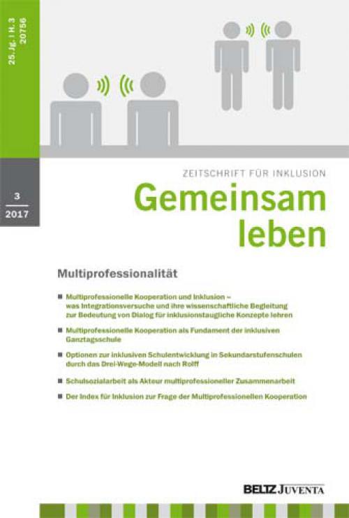 Der Index für Inklusion zur Frage der Multiprofessionellen Kooperation cover