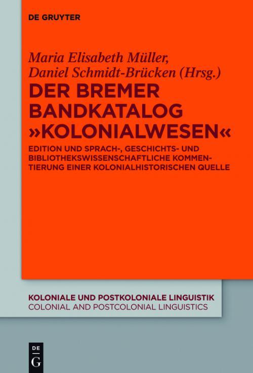 "Der Bremer Bandkatalog ""Kolonialwesen"" cover"