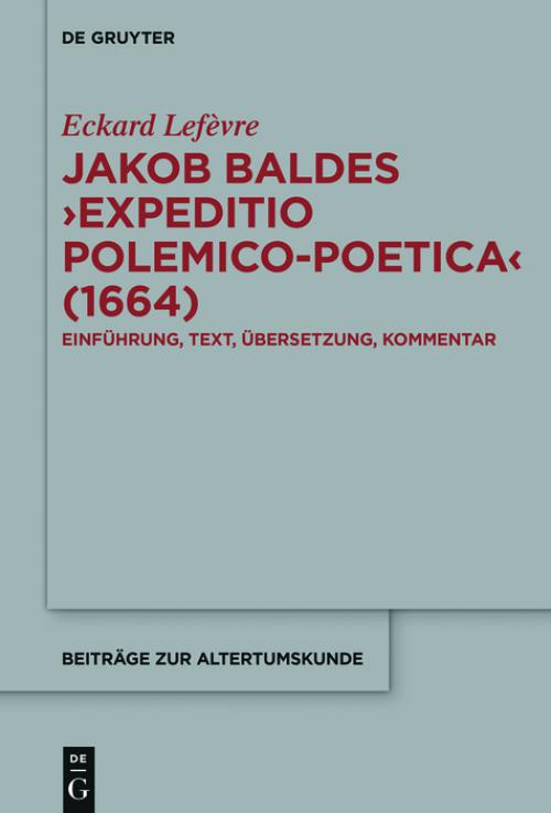 Jakob Baldes ›Expeditio Polemico-Poetica‹ (1664) cover