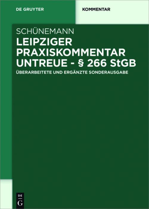 Leipziger Praxiskommentar Untreue - § 266 StGB cover