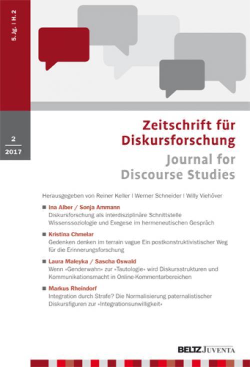 Diskursforschung als interdisziplinäre Schnittstelle cover