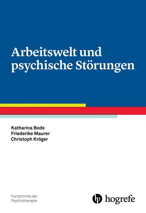 Arbeitswelt und psychische Störungen cover