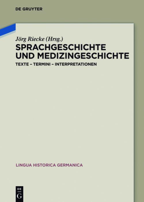Sprachgeschichte und Medizingeschichte cover