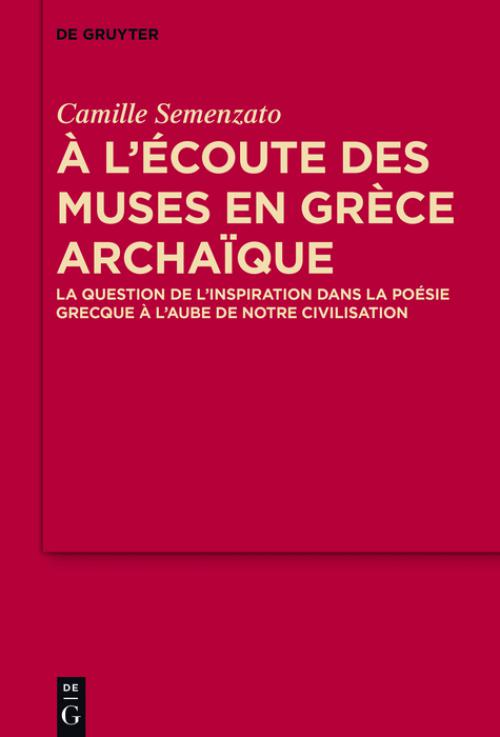 A l'écoute des Muses en Grèce archaïque cover