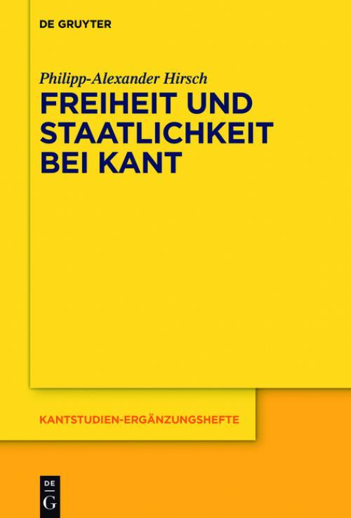 Freiheit und Staatlichkeit bei Kant cover