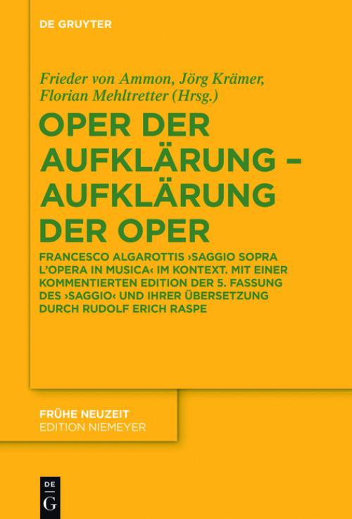 Oper der Aufklärung – Aufklärung der Oper cover