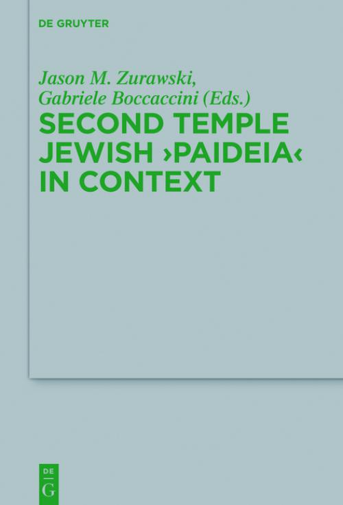 Second Temple Jewish 'Paideia' in Context cover