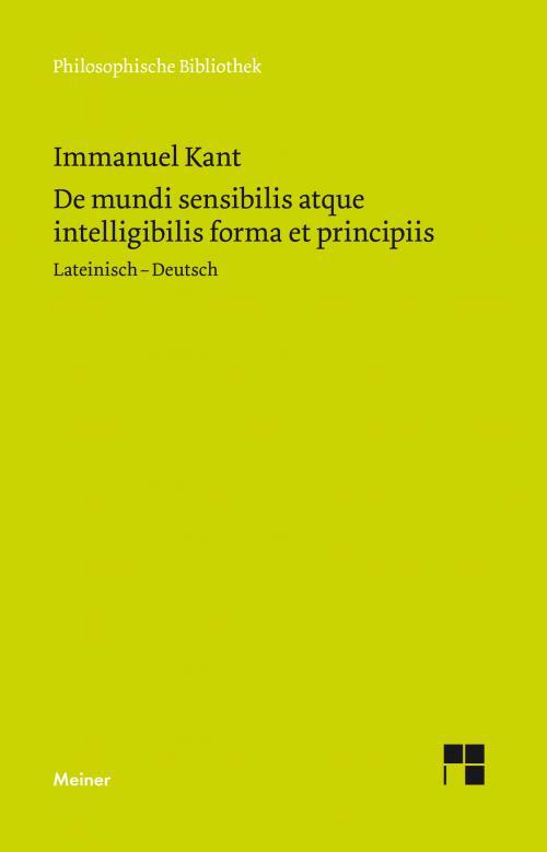 De mundi sensibilis atque intelligibilis forma et principiis cover