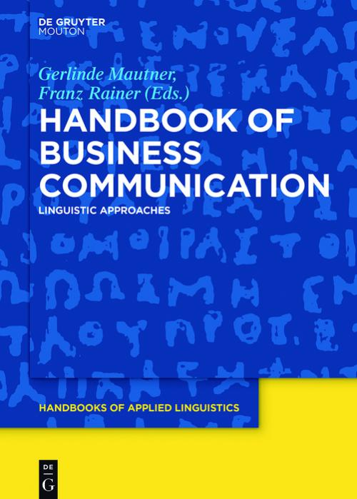 Handbook of Business Communication cover