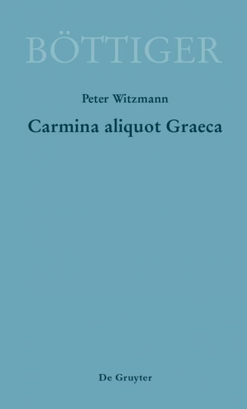 Carmina aliquot Graeca cover