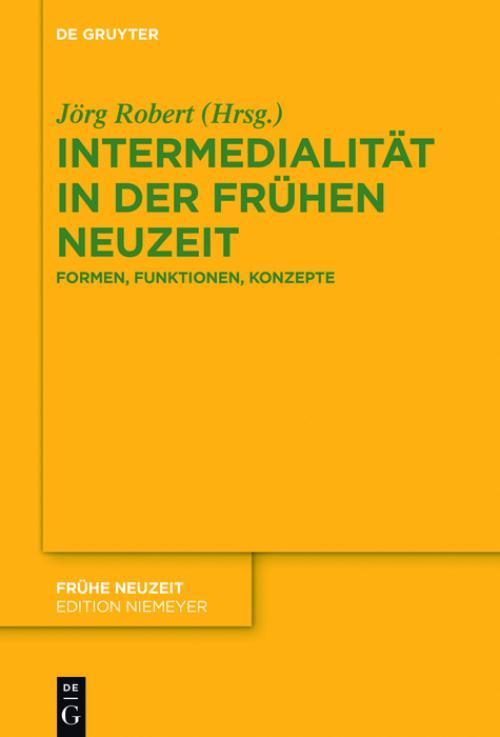 Intermedialität in der Frühen Neuzeit cover