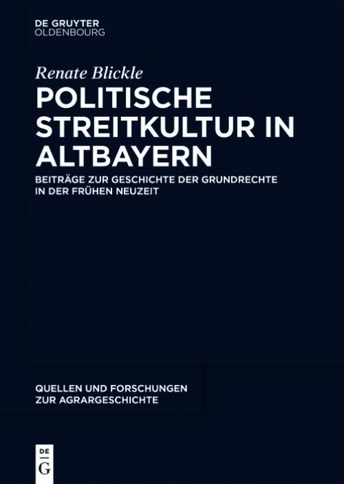 Politische Streitkultur in Altbayern cover