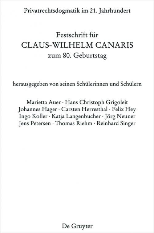 Privatrechtsdogmatik im 21. Jahrhundert cover