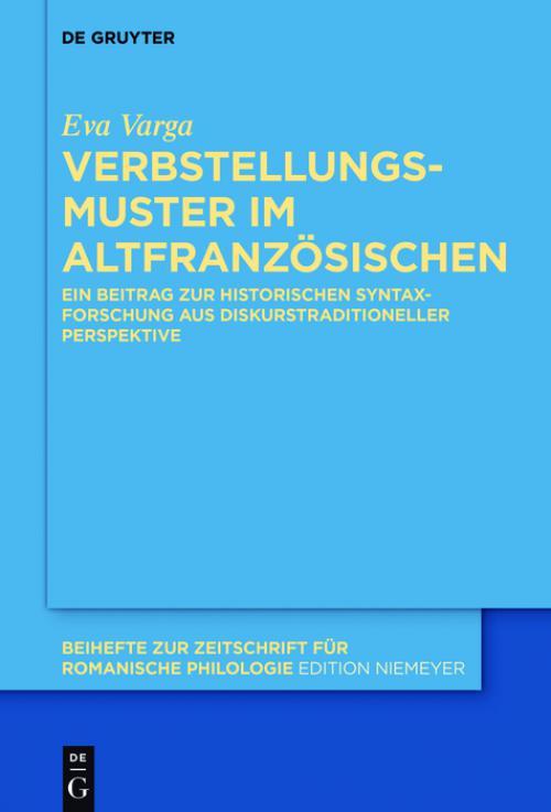 Verbstellungsmuster im Altfranzösischen cover