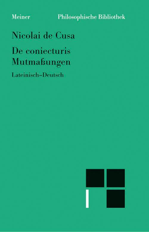 Schriften in deutscher Übersetzung / Mutmassungen cover