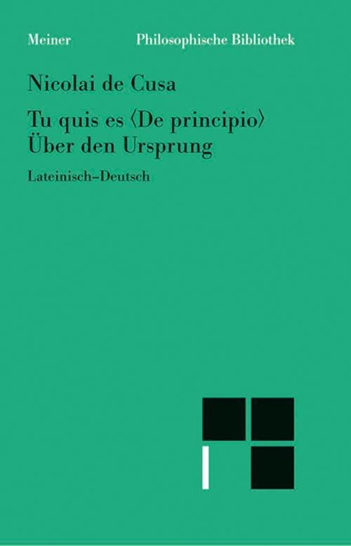 Schriften in deutscher Übersetzung / Über den Ursprung /Tu quis es Δe principio cover
