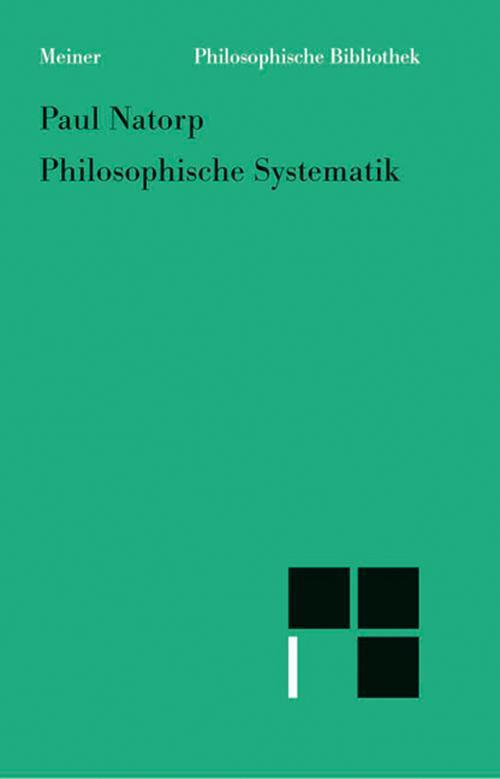 Philosophische Systematik cover