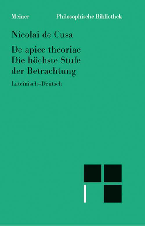 Schriften in deutscher Übersetzung / Die höchste Stufe der Betrachtung cover