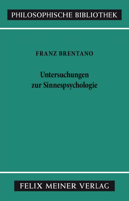 Untersuchungen zur Sinnespsychologie cover
