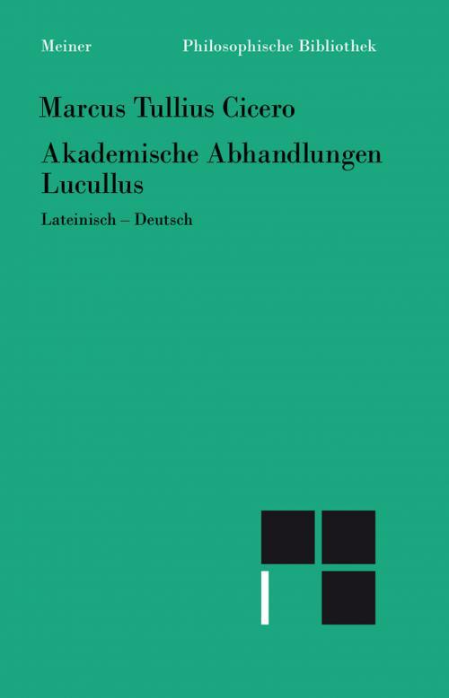 Akademische Abhandlungen. Lucullus cover