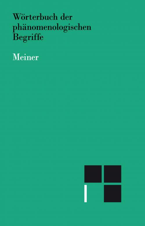 Wörterbuch der phänomenologischen Begriffe cover