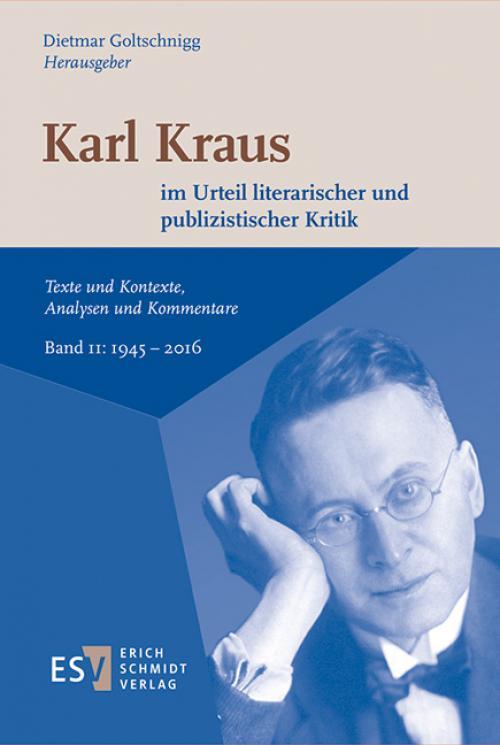 Karl Kraus im Urteil literarischer und publizistischer Kritik cover