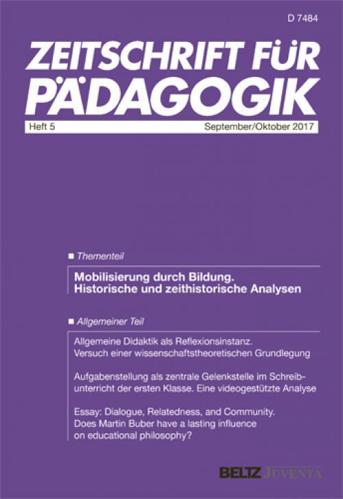 Allgemeine Didaktik als Reflexionsinstanz cover