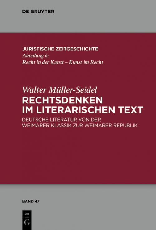 Rechtsdenken im literarischen Text cover