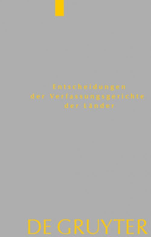 Baden-Württemberg, Berlin, Brandenburg, Bremen, Hamburg, Hessen, Mecklenburg-Vorpommern, Niedersachsen, Saarland, Sachsen, Sachsen-Anhalt, Schleswig-Holstein, Thüringen cover