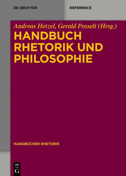 Handbuch Rhetorik und Philosophie cover
