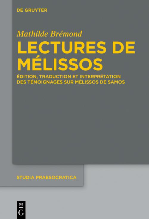Lectures de Mélissos cover