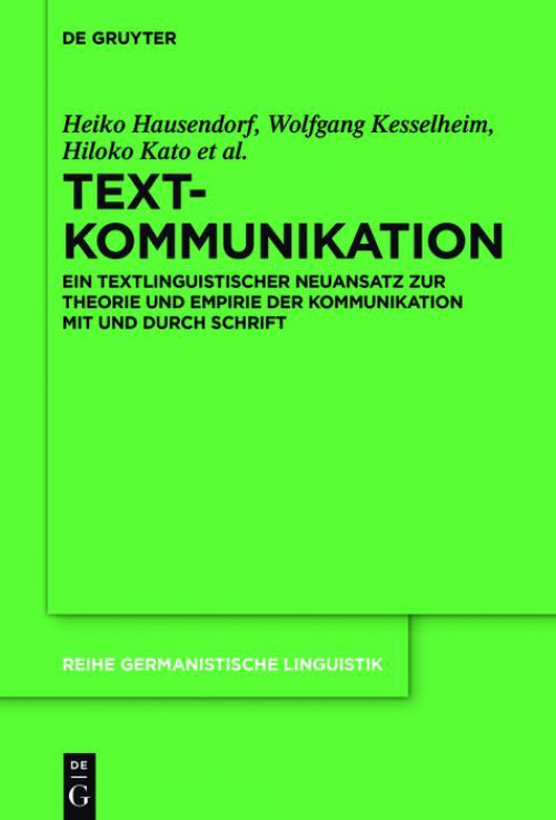 Textkommunikation cover