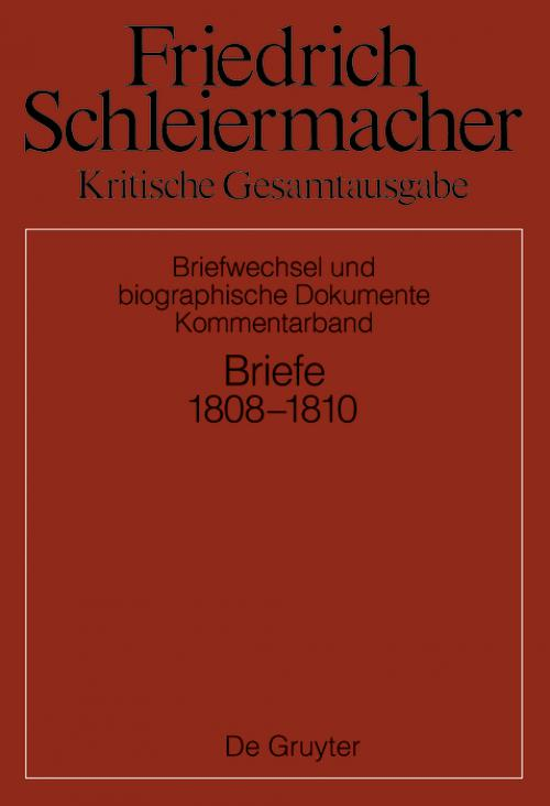Briefwechsel 1808-1810 cover