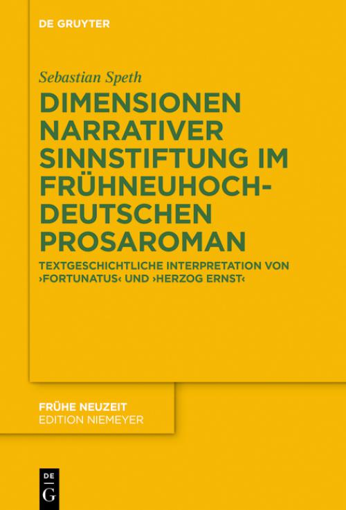 Dimensionen narrativer Sinnstiftung im frühneuhochdeutschen Prosaroman cover