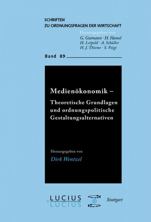 Medienökonomik cover