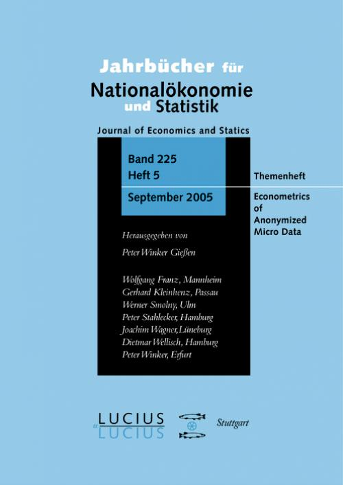 Econometrics of Anonymized Micro Data cover