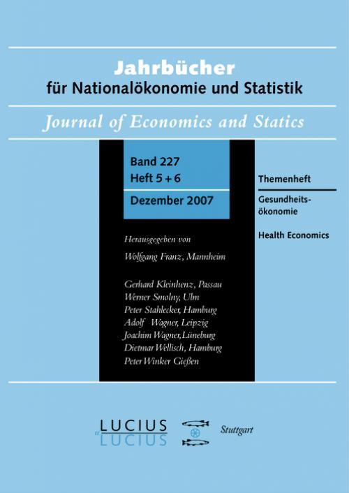 Gesundheitsökonomie  /  Health Economics cover