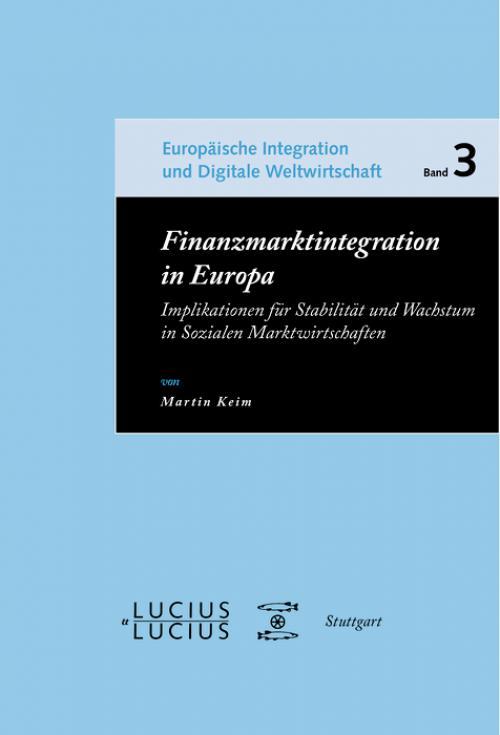 Finanzmarktintegration in Europa cover