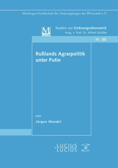 Rußlands Agrarpolitik unter Putin cover