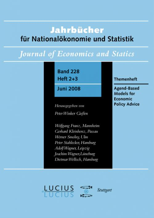 Agent Based Models for Economic Policy Advice cover