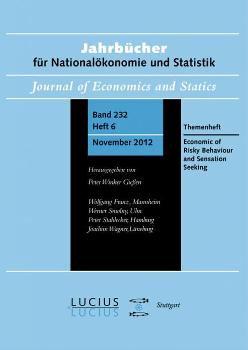 Economics of Risky Behavior and Sensation Seeking cover