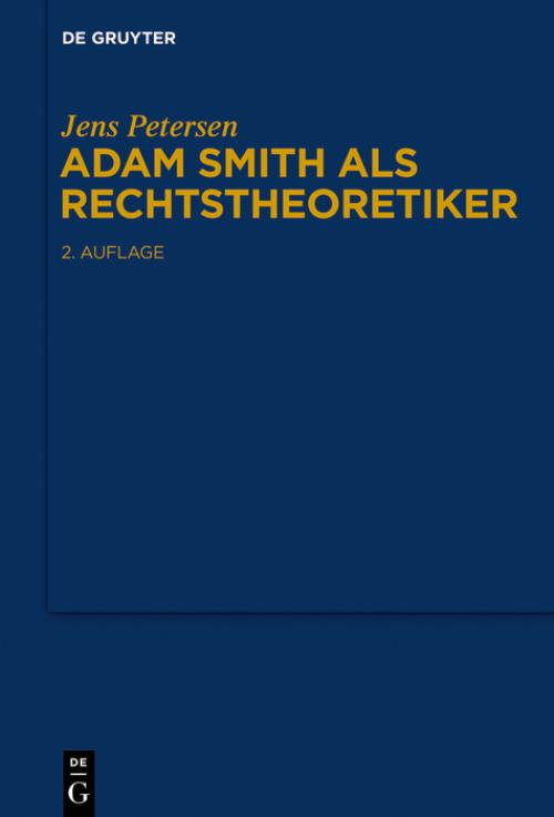 Adam Smith als Rechtstheoretiker cover