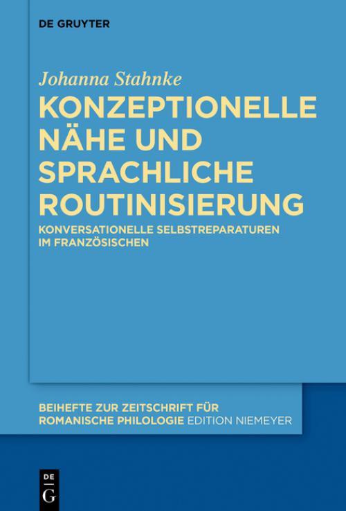 Konzeptionelle Nähe und sprachliche Routinisierung cover